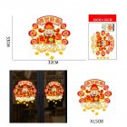 Cartoon Mouse Pattern Wall Sticker for 2020 New Year Spring Festival Glass Door Window Decor XL508