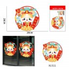 Cartoon Mouse Pattern Wall Sticker for 2020 New Year Spring Festival Glass Door Window Decor XL511