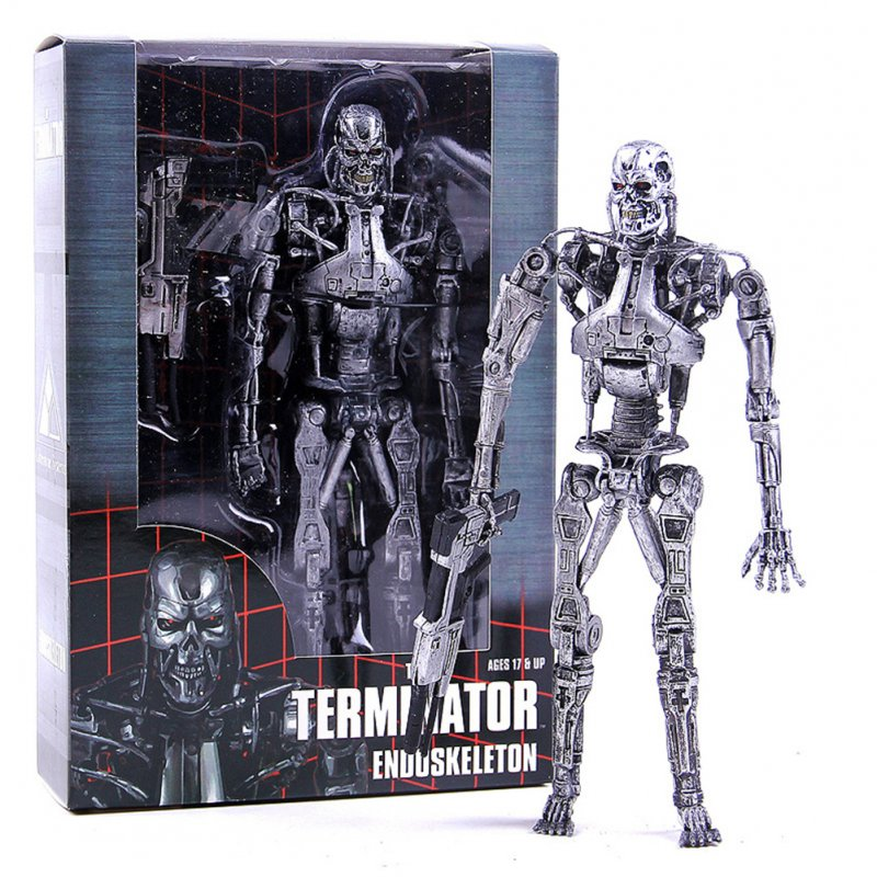 Cartoon Movie Figure Doll for The Terminator T800 T1000 Mechanical Endoskeleton Model Toy Bookshelf Decoration