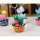 Cartoon Photo Clip Holder Decoration Desk Card Memo Stand Love cactus with strawberry / orange bottom