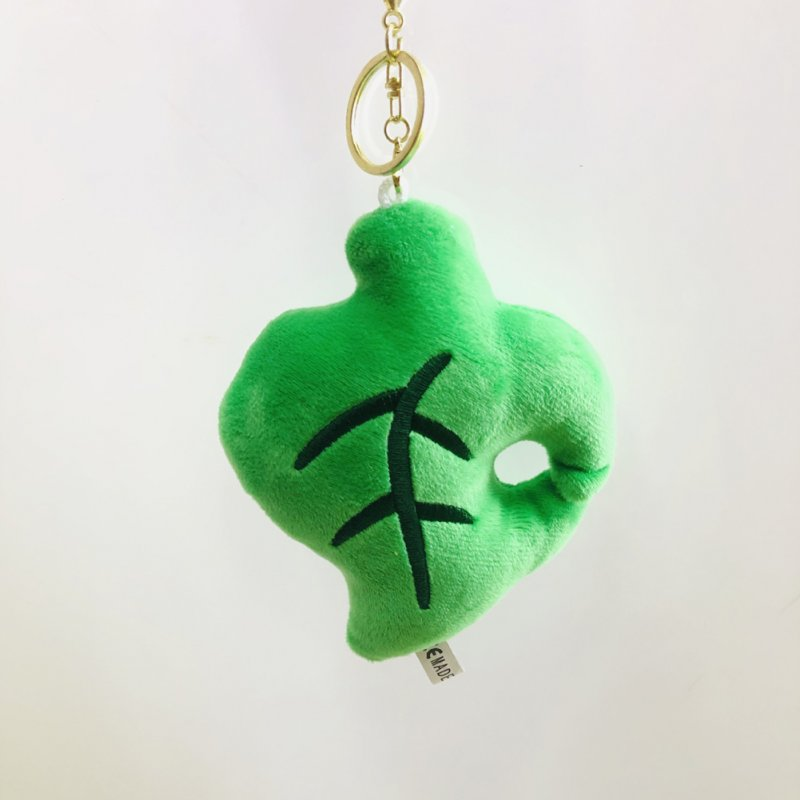 Cartoon Plush Stuffed Doll Toy Hanging Pendant for Bag Keychain Decor leaf