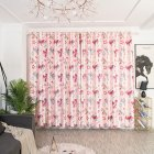 Cartoon Printed Window Curtains Hollow Out Drape for Home Kids Room Shade Pink 1   2 5m high punch