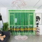 Cartoon Printing Curtain Tulle Breathable Drapes for Home Living Room Balcony Decoration 1 * 2.7 meters high