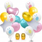 Cartoon Rabbit Printing Latex Balloons with Ribbon for Easter Party Decoration Double bunch