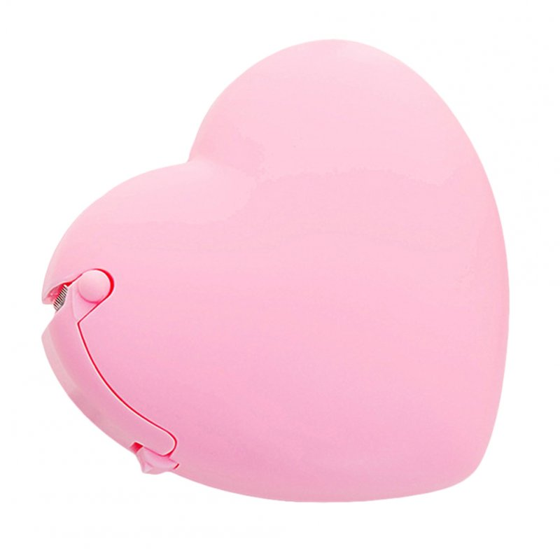 Cartoon Shape Tape Dispenser with Tape love heart - pink
