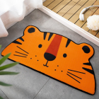Cartoon Shaped Floor  Mat Bedroom Door Carpet Non-slip Absorbent Semicircular Floor  Mat Orange tiger_40*80cm