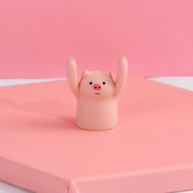 Cartoon Shaped Message Clips Picture Frames Home Business Desktop Card Holder Skin color pig