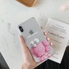 Cartoon Shockproof TPU Mobile Phone Case Cover Protection Shell for phoneX iphone7plus 8plus Pink_iPhone7/8