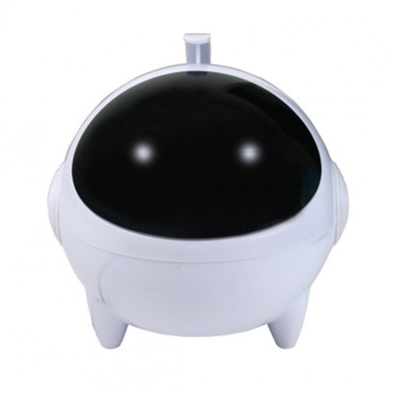 Cartoon USB Speaker Portable 3.5mm Audio Interface 13.2 * 13.2 * 13.5cm for MP3 MP4 white_Dual speakers