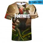 Casual 3D Cartoon Pattern Round Neck T-shirt Picture color AA_M