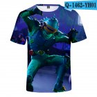 Casual 3D Cartoon Pattern Round Neck T shirt Picture color AB XXXXL