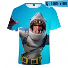 Casual 3D Cartoon Pattern Round Neck T-shirt Picture color AD_M