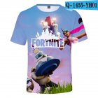 Casual 3D Cartoon Pattern Round Neck T-shirt Picture color AF_M