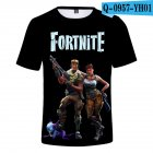 Casual 3D Cartoon Pattern Round Neck T-shirt Picture color S_S