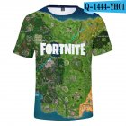 Casual 3D Cartoon Pattern Round Neck T-shirt Picture color AJ_XXXL