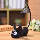 Cat Toy Night Light for Child Led Lamp Home Decoration Resin Kids Cartoon Room Lamp mesh lampshade