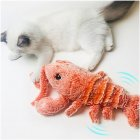 Cat Toy Plush Lobster Electric USB Charging Simulation Jumping Lobster Toys for Cats Dogs Pet Orange_USB