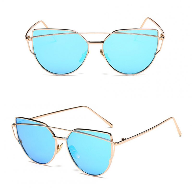Cateye Goggle Sunglass Ladies Fashion Metal Frame Sunglasses