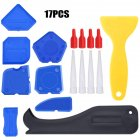 Caulking  Tool Kit Silicone Sealant Finishing Tool Grout Scraper Caulk Remover And Caulk Nozzle Caulk Cap 17-piece set