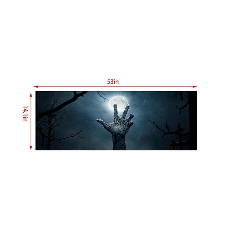 Cemetery Cross Resurrection Rear Window Glass Graphic Color Sticker SUV Pickup Horror Car Universal Sticker  135*36cm/53.1*14.1inch