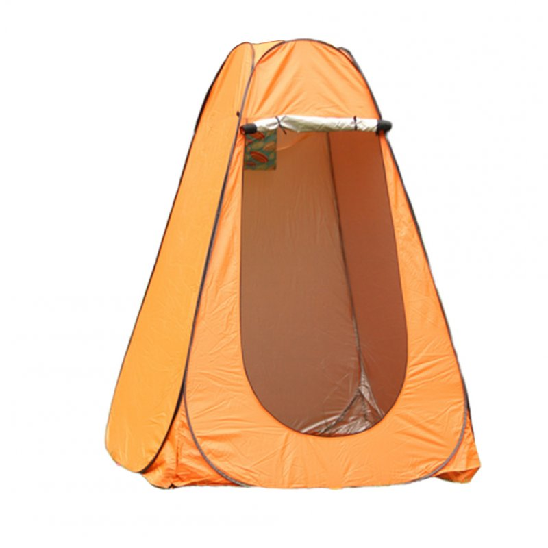 Changing Tent Room Portable Outdoor Instant Quick-opening Privacy Camping Shower Toile Orange_Double