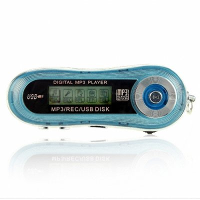 Smooth Blue MP3 Player 256MB - 10 Hours Playing Time