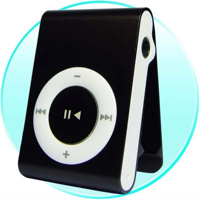 Upgraded Clip MP3 Digital Music Player - 4GB + USB Port