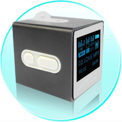 Cute Cube MP3 Player - 512MB - Mini LED Display
