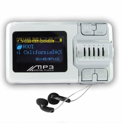 Palm Sized MP3 Player 2GB - Voice Record + LCD Screen