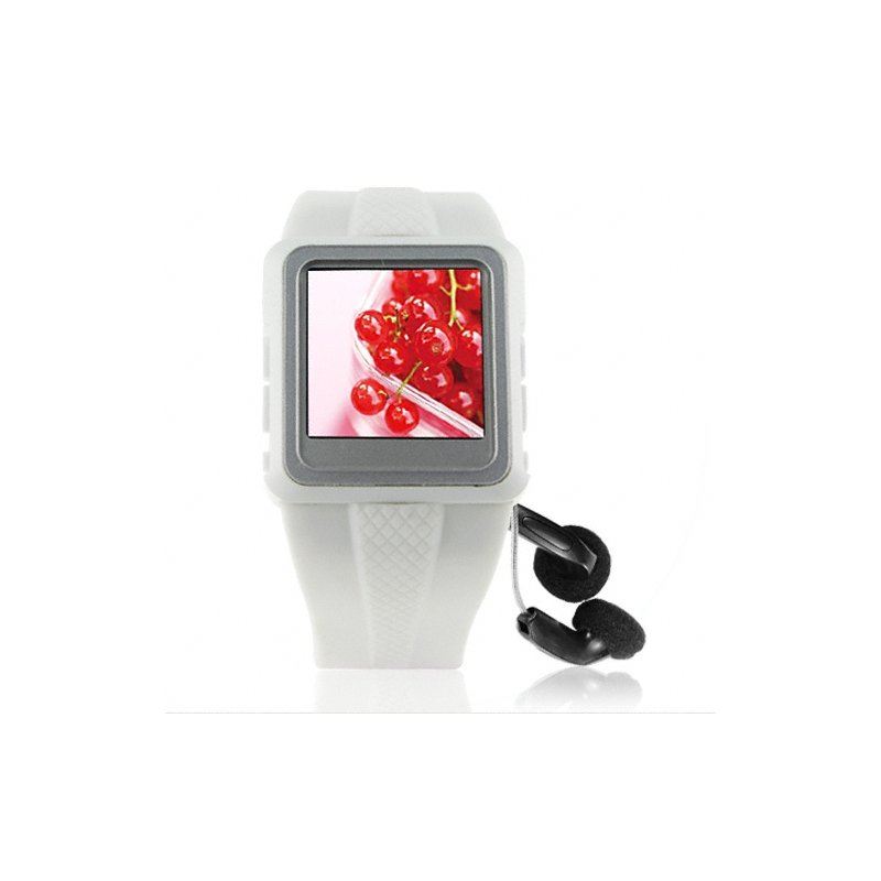 Watch MP4 Player 2GB White - 1.5-inch