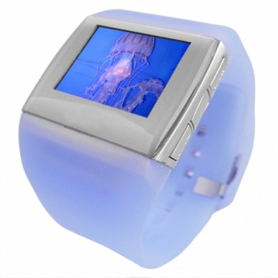 1.5 Inch OLED Watch MP4 Player 2GB - Quality Polystyrene Strap