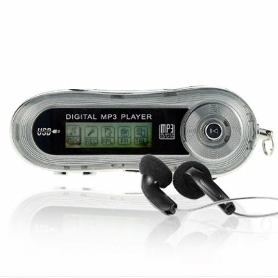 Sexy Silver MP3 Player 512MB - 10 Hours Playing Time