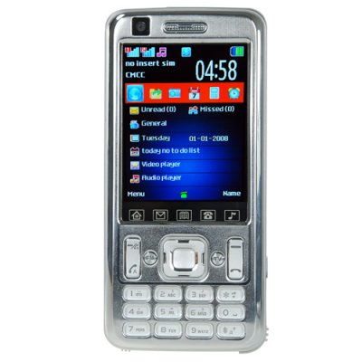 Quad Band Dual SIM Cell Phone With 2.7 Inch Touchscreen Display