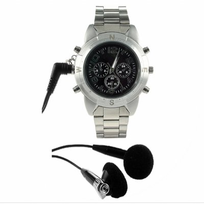 Watch MP3 Player 2GB - High Quality MIC + Line In Recording