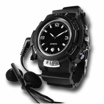 Sports MP3 RF Transmitting Watch - 4GB