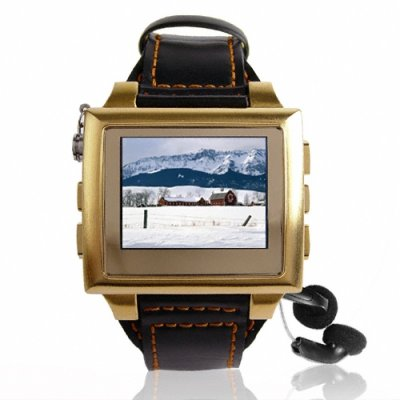Gold MP4 Watch - Bluetooth
