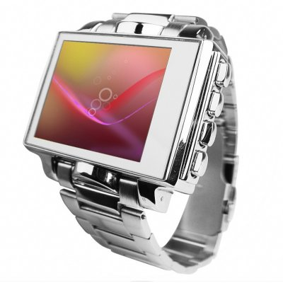 Steel MP4 Player Watch