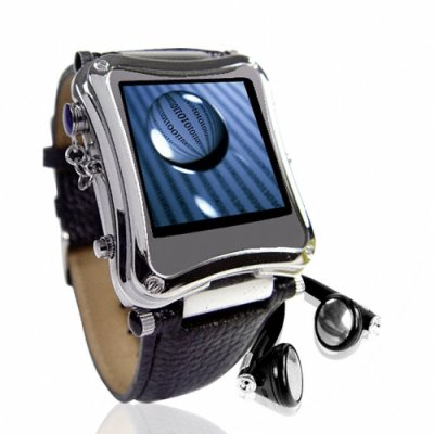 Metallic 1.5 Inch LCD MP4 Watch Player - 8GB