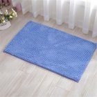Chenille Bath Mat Non-Slip Water Absorption Floor Mat for Kids Bathroom Shower Mat Area Rugs  blue_50*80cm
