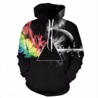 Chic Unisex Couples 3D Digital Printing Sweatshirt Fashion Hooded Long Sleeve Tops as shown_L