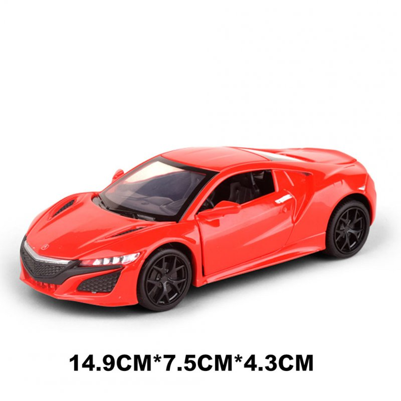 Children 1/32 Simulation Alloy Pull back Sound and Light Simulation Car Mold Gift Ornaments Decoration red