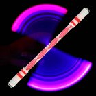 Children Colorful Special Illuminated Anti fall Spinning Pen Rolling Pen  A15 red  lighting section