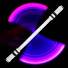 Children Colorful Special Illuminated Anti-fall Spinning Pen Rolling Pen  A15 white (Type B)