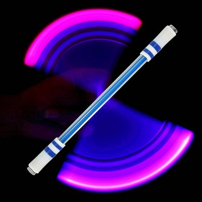 Children Colorful Special Illuminated Anti-fall Spinning Pen Rolling Pen  A15 blue (B section)