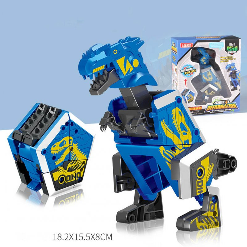 Children Creative Deformation Robot Enlightenment Puzzle DIY Building Block Toy Assembled Dinosaur 1#