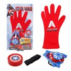 Children Cute Cartoon Movie Figure Gloves Toy Launcher Captain America