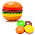 Children Cute Pretend Play Simulation Fruit Vegetable Set for Kids   Burger
