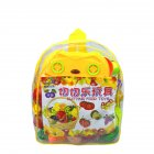 Children Cute Pretend Play Simulation Fruit Vegetable Set for Kids   Empty backpack (25*30*8)