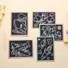 Children DIY Magic Scratch Art Painting Paper Educational Scraping Drawing Pictures Toys(Random pattern)