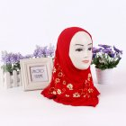 Children Girl Muslim National Style Flower Printing Breathable Headscarf